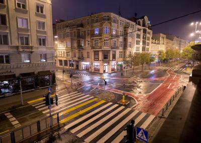 Jesienna noc w Poznaniu