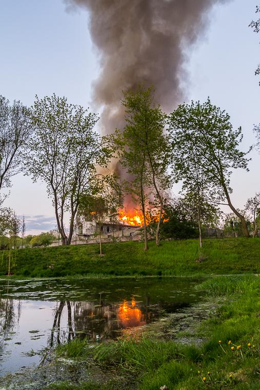 Nadolnik - pożar młyna