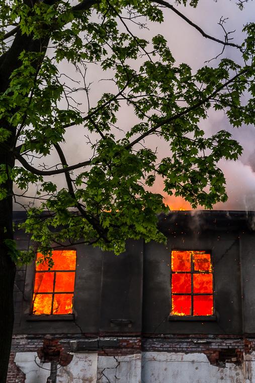 Pożar starego młyna Poznań