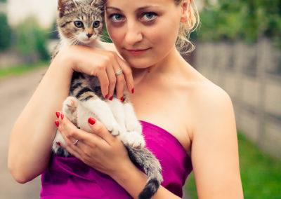 Zdjęcie - portret z kotem